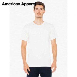 American Apparel 2001ORGW Organic Fine Jersey T-Shirt (US Size)