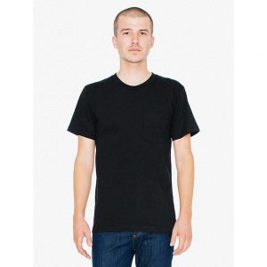 American Apparel 2406 Fine Jersey Crewneck Pocket T-Shirt (US Size)