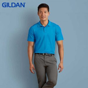 Gildan 73800 Adult Blended Ring Spun DP Polo Shirt