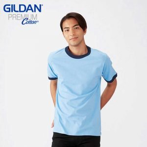 Gildan 76600 Premium Cotton Adult Ring Spun Ringer T-Shirt