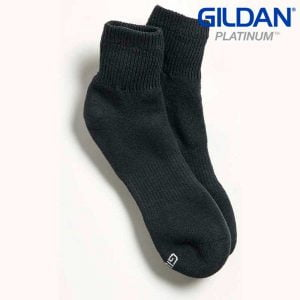 Gildan Platinum GP731 Men's Ankle Socks Black (6 Pair)