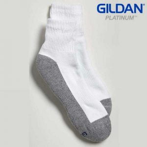 Gildan Platinum GP731 Men's Ankle Socks White/Grey (6 Pair)