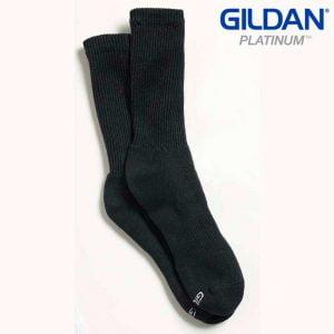 Gildan Platinum GP751 Men's Crew Socks Black (6 PAIR)