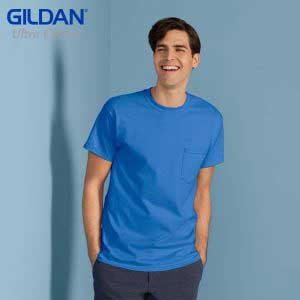 Gildan 2300 Ultra Cotton 成人有袋 T恤 (美國尺碼)
