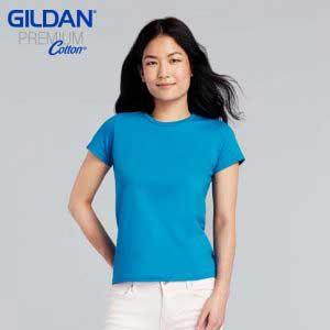 Gildan 76000L Premium Cotton 女裝環紡 T 恤