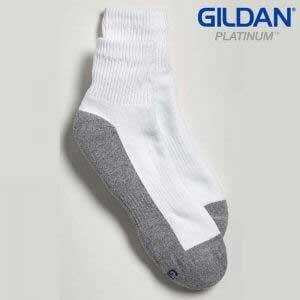 Gildan Platinum GP731 男裝白色/灰色短襪 (6 對裝)